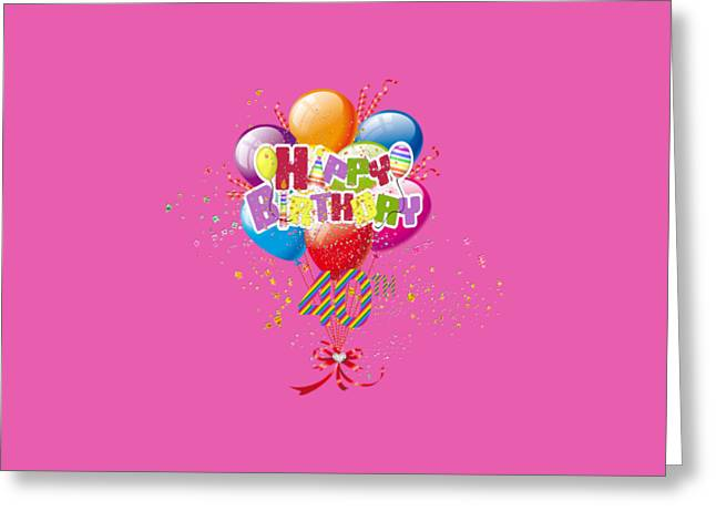 Helium Greeting Cards - Happy 40th Birthday Greeting Card by DMiller