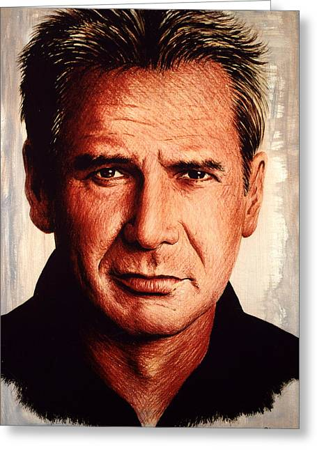 Harrison Ford  Greeting Card by Andrew Read