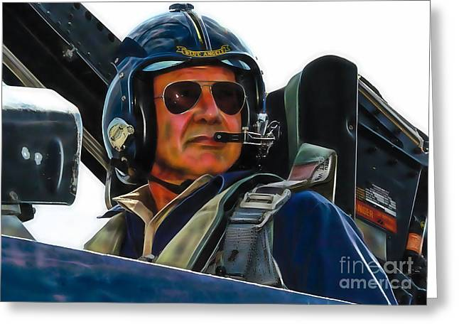 Harrison Greeting Cards - Harrison Ford Collection Greeting Card by Marvin Blaine