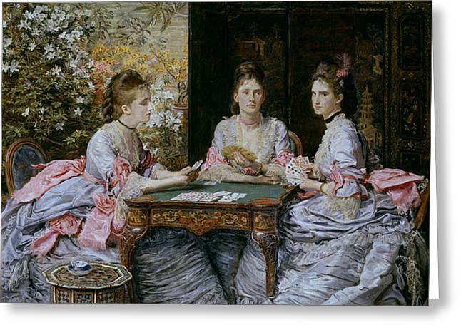 Pre-19th Greeting Cards - Hearts are Trumps Greeting Card by John Everett Millais