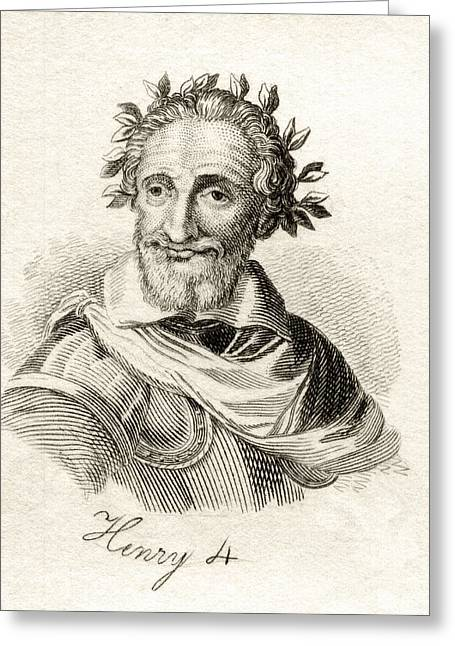 Henry Drawings Greeting Cards - Henry Iv Aka Henry Of Navarre Or Greeting Card by Ken Welsh
