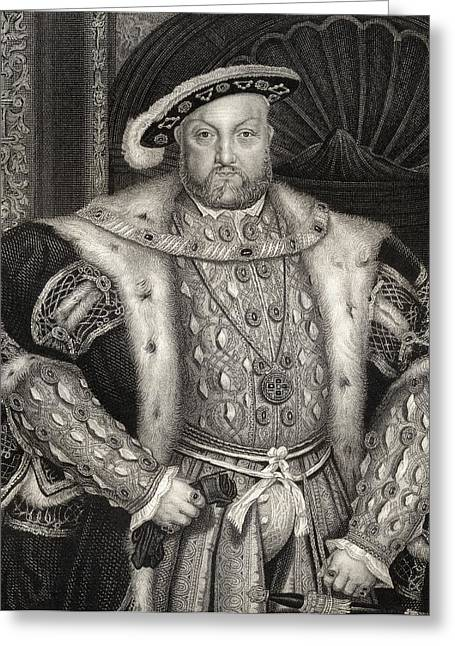 Viii Greeting Cards - Henry Viii 1491-1547. King Of England Greeting Card by Ken Welsh
