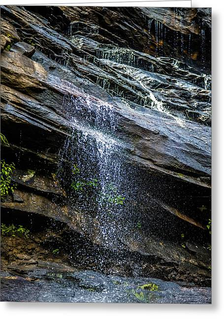 Beautiful Scenery Greeting Cards - Hickory Nut Waterfalls During Daylight Summer Greeting Card by Alexandr Grichenko