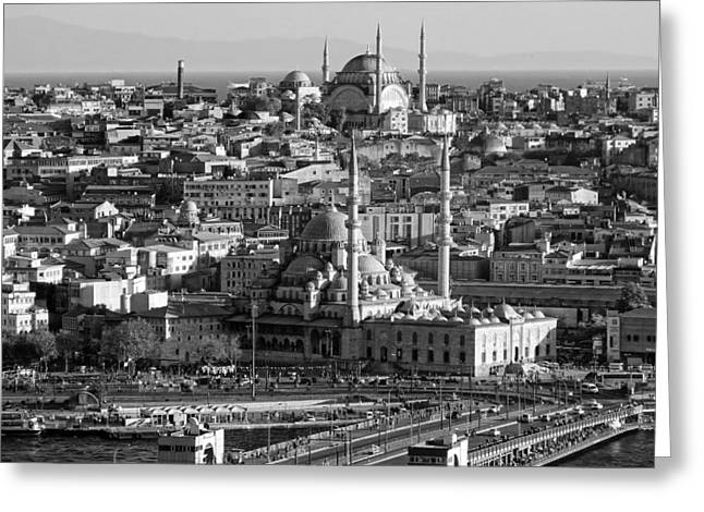Istanbul Greeting Cards - Historic Istanbul Greeting Card by Falco