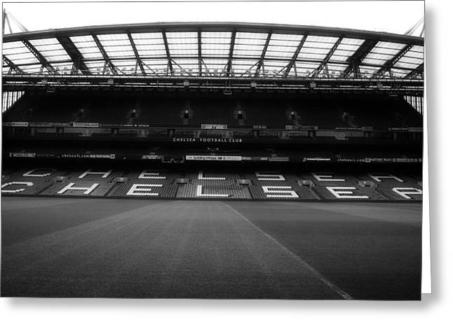 Goal Line Greeting Cards - Home of the Chelsea Football Club Greeting Card by A Hundt