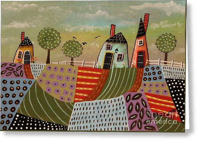 3 Houses 1 Greeting Card by Karla Gerard