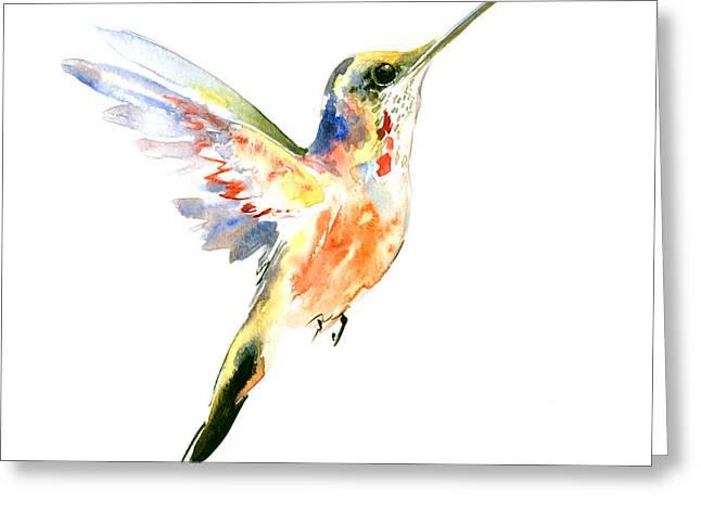 Hummingbird Greeting Card by Suren Nersisyan