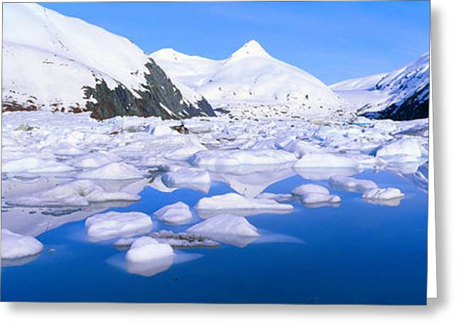 Icebergs In Portage Lake And Portage Greeting Card by Panoramic Images