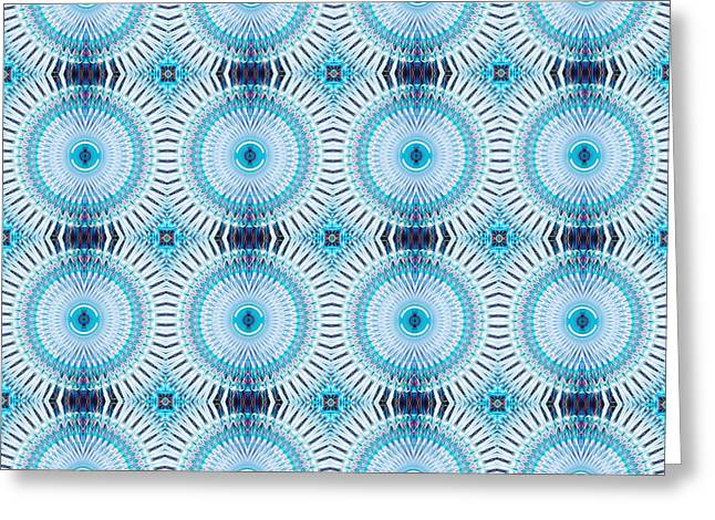 Infinitely Repeating Pattern Greeting Card by Thomas Morris