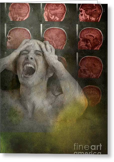 Intense Pain Greeting Card by George Mattei