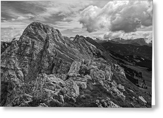 Italian Landscapes Greeting Cards - Italian Mountain Vista Greeting Card by Ales Krivec