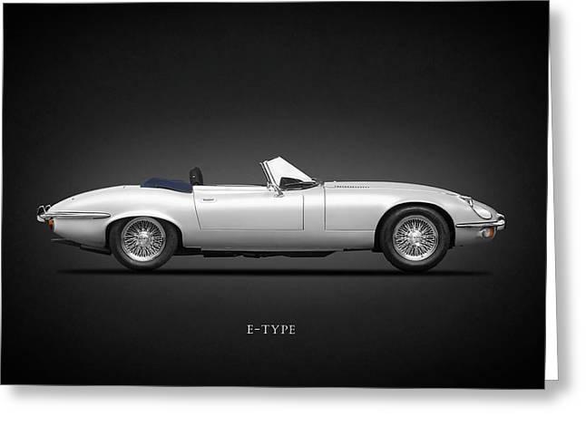 Jaguars Greeting Cards - Jaguar E-Type Greeting Card by Mark Rogan