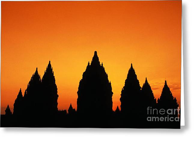 Mahadeva Greeting Cards - Java, Prambanan Greeting Card by Gloria & Richard Maschmeyer - Printscapes