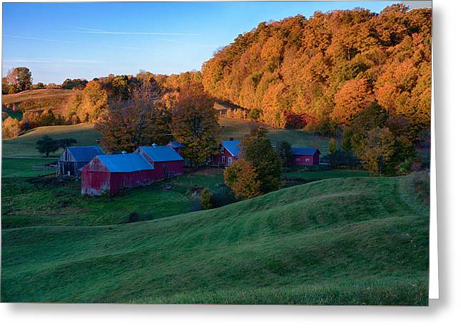 Jenne Farm Greeting Card by Jeff Folger