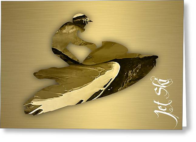 Jet Ski Collection Greeting Card by Marvin Blaine