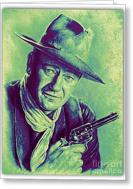 John Wayne Greeting Card by Andrew Read