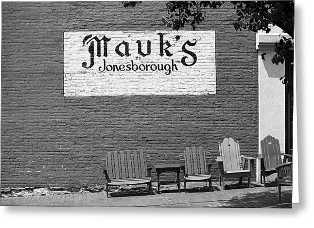 Tennessee Landmark Greeting Cards - Jonesborough Tennessee - Mauks Store Greeting Card by Frank Romeo