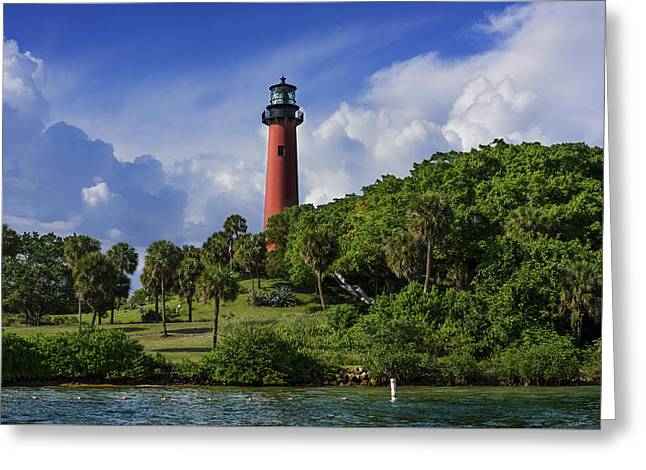 Jupiter Lighthouse Greeting Card by Laura Fasulo