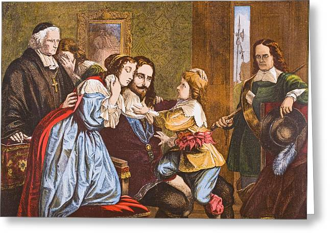 King Charles I Of England 1600-1649 Greeting Card by Vintage Design Pics