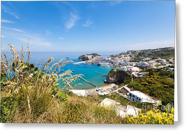 Wanderwege Greeting Cards - Landscape and coast of the Italian island Ponza Greeting Card by Wolfgang Steiner