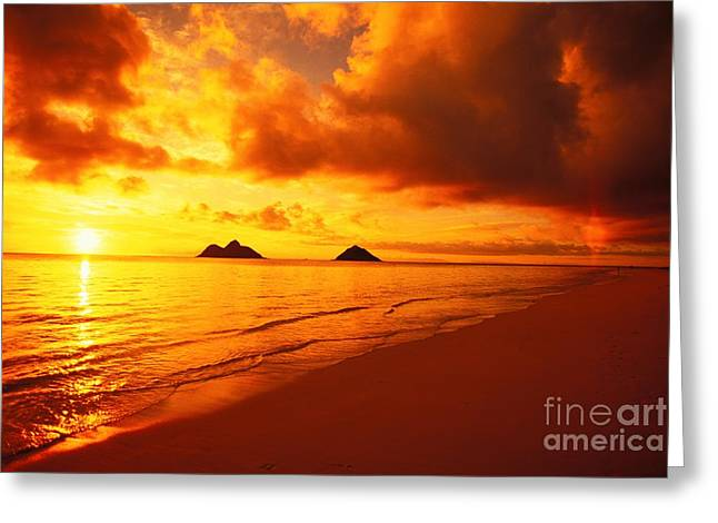 Lowtide Greeting Cards - Lanikai Beach Greeting Card by Dana Edmunds - Printscapes