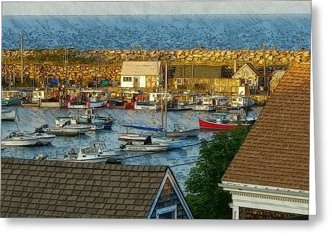 Boats In Water Greeting Cards - Last Light Of The Day Greeting Card by Harriet Harding