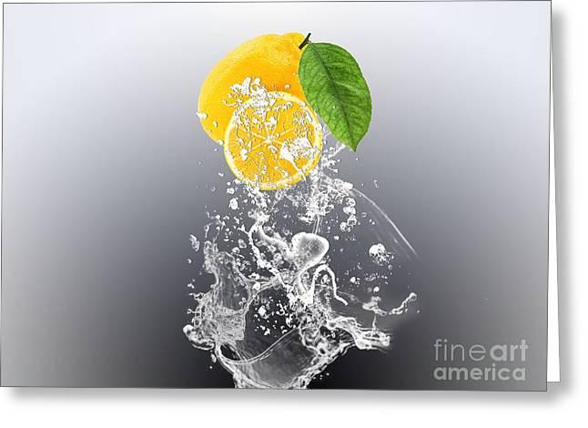 Lemon Splast Greeting Card by Marvin Blaine