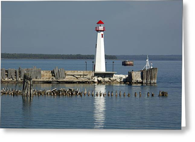 Usa Photographs Greeting Cards - Lighthouse Greeting Card by Christian Heeb