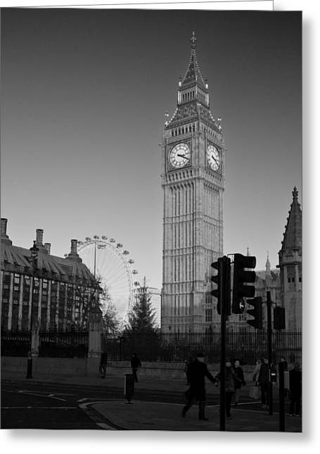 Westminster Greeting Cards - London  Skyline Big Ben Greeting Card by David French