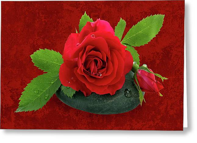 Ston Greeting Cards - Love Greeting Card by Manfred Lutzius