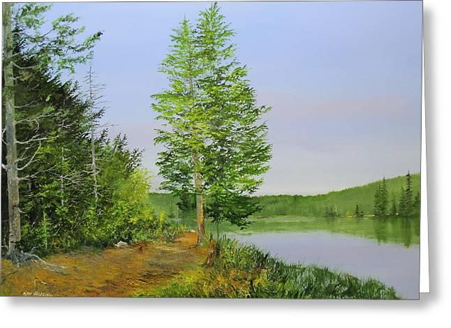 Lowell Lake Greeting Card by Ken Ahlering