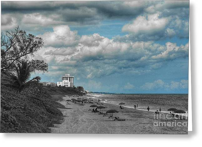 Beach Photography Greeting Cards - Mandatory Umbrella Greeting Card by Glenn Forman