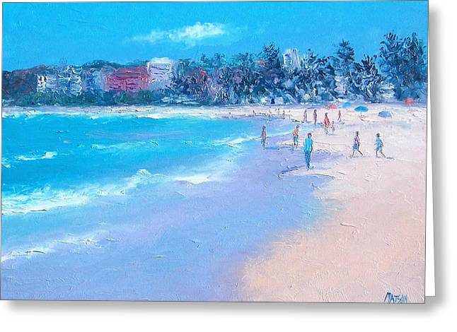 Manly Beach Greeting Card by Jan Matson
