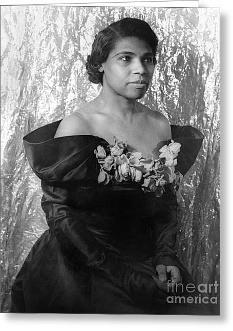 Van Vechten Greeting Cards - Marian Anderson (1897-1993) Greeting Card by Granger