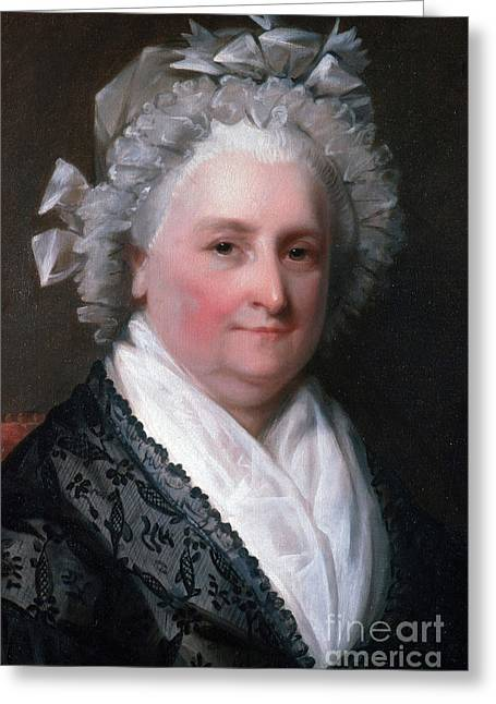 Lady Washington Greeting Cards - Martha Washington, American Patriot Greeting Card by Photo Researchers