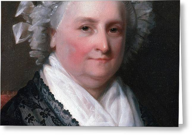 Martha Washington, American Patriot Greeting Card by Photo Researchers