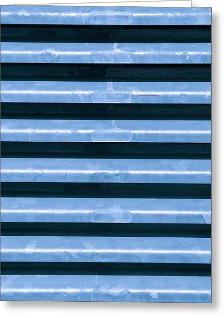 Abstract Style Greeting Cards - Metal bars Greeting Card by Tom Gowanlock