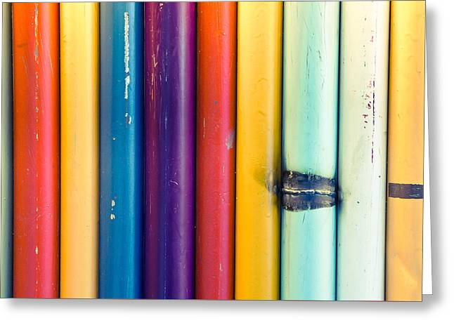 Selection Greeting Cards - Metal poles Greeting Card by Tom Gowanlock