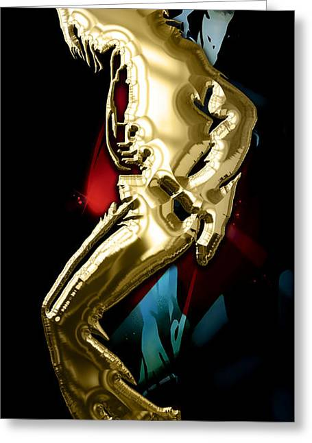 Pop Art Greeting Cards - Michael Jackson Collection Greeting Card by Marvin Blaine