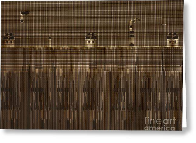 Processor Greeting Cards - Microchip, Light Micrograph Greeting Card by Robert Markus