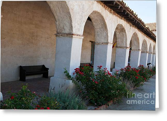 Historical Images Greeting Cards - Mission San Miguel Arcangel Greeting Card by Jason O Watson