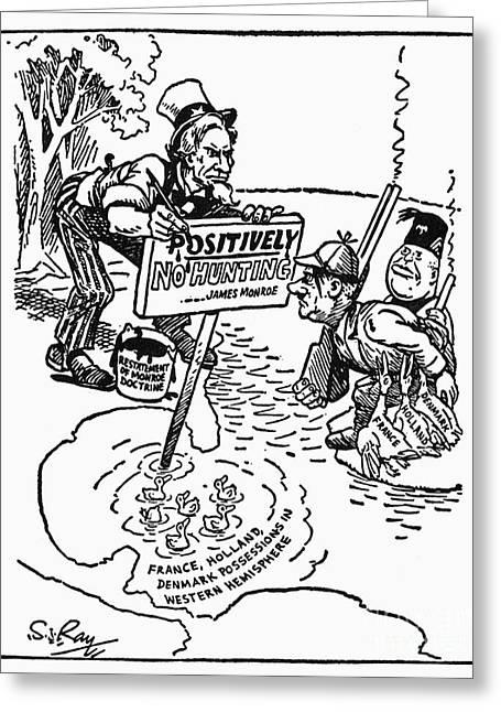 Monroe Doctrine Cartoon Greeting Card by Granger