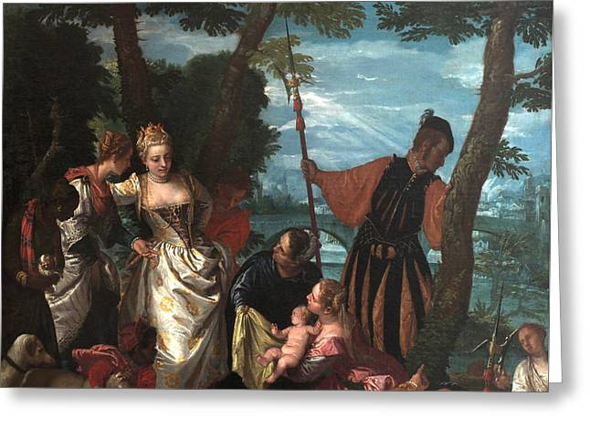 Moses Saved From The Waters Greeting Card by Paolo Veronese