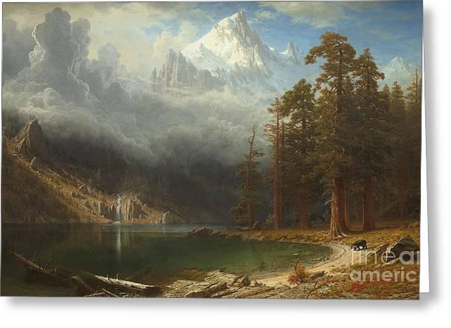 Mount Corcoran Greeting Card by Albert Bierstadt
