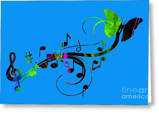 Butterflies Greeting Cards - Music Flows Collection Greeting Card by Marvin Blaine