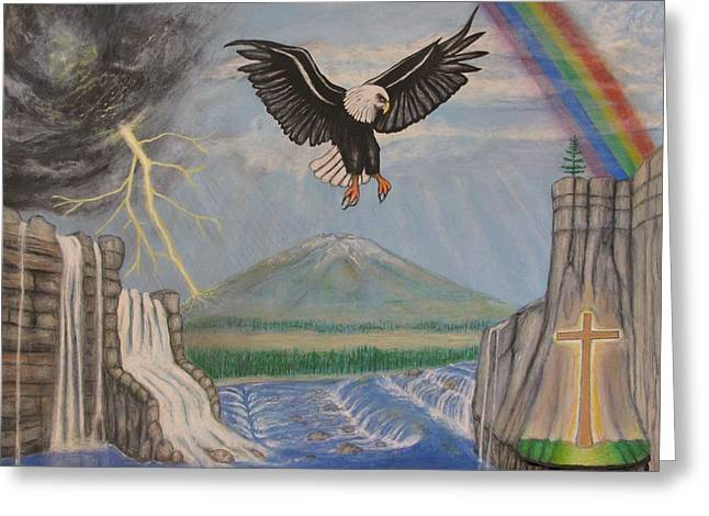 My Youth Is Renewed Like The Eagle's Greeting Card by Neal David Reilly