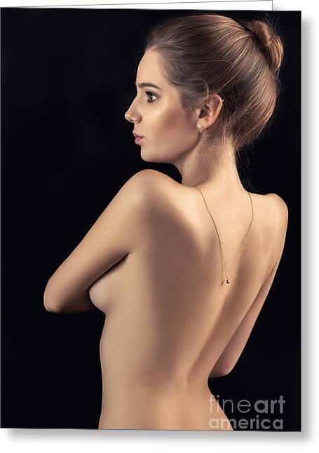 Naked Sensual Greeting Card by Aleksey Tugolukov