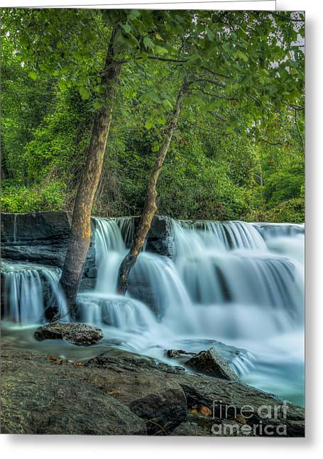 Natural Dam Arkansas Greeting Cards - Natural Dam  Greeting Card by Larry McMahon