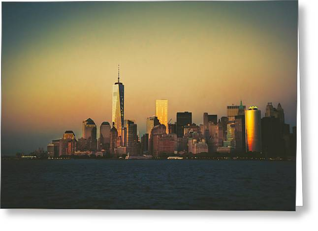 Wtc Center Greeting Cards - New York City Skyline Greeting Card by Vivienne Gucwa