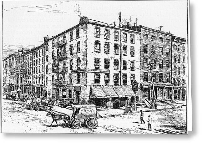 Wall Street Greeting Cards - New York: Fraunces Tavern Greeting Card by Granger
